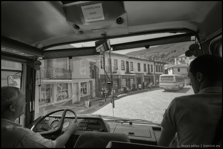 Arrivo a Karyes, la capitale del monte Athos. Conta 163 abitanti