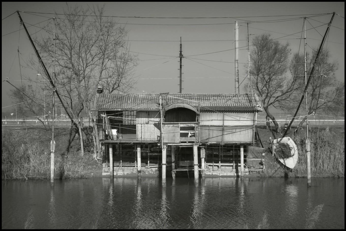30 dicembre 2005, capanno sul fiume Lamone