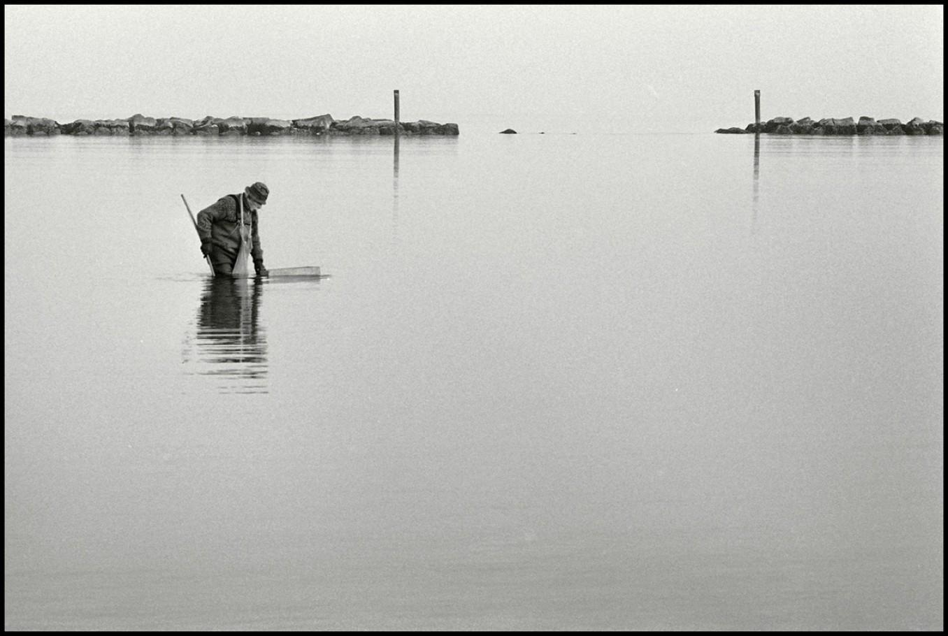 Gennaio 2007, pesca di vongole a Lido di Dante