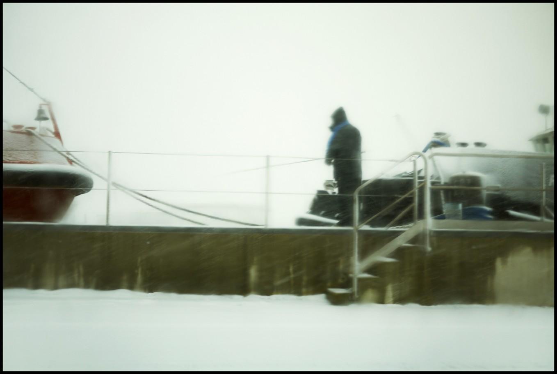 1 febbraio 2012, attracco dei rimorchiatori, pesca sotto la neve