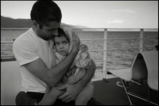 Quarnaro, in traghetto. Agosto 2010